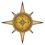 Compasso do ouro Fotografia de Stock Royalty Free