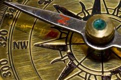 Compasso do ouro do estilo velho Foto de Stock Royalty Free