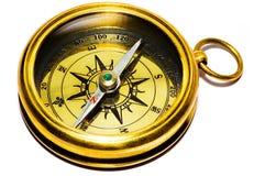 Compasso do ouro do estilo velho Imagem de Stock