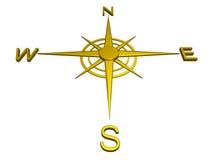 Compasso do ouro, sentidos, curso Imagens de Stock Royalty Free