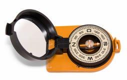 Compasso do turista com espelho Fotografia de Stock Royalty Free