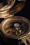 Compasso dourado Fotografia de Stock Royalty Free