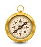Compasso dourado Imagem de Stock Royalty Free