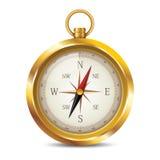 Compasso dourado Imagens de Stock Royalty Free
