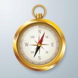 Compasso dourado Fotos de Stock