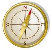Compasso dourado do vetor Fotografia de Stock Royalty Free