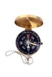 Compasso dourado isolado Imagens de Stock Royalty Free