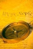 Compasso e constituição de Estados Unidos Imagens de Stock