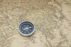 Compasso e mapa Imagem de Stock Royalty Free