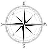 Compasso limpo simples da moeda ilustração royalty free