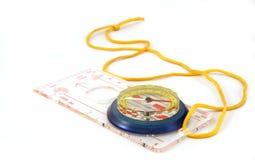 Compasso magnético Fotografia de Stock