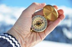 Compasso na mão Imagem de Stock Royalty Free