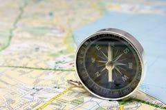 Compasso no mapa da cidade de Dublin Fotografia de Stock Royalty Free