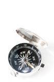 Compasso pequeno do bolso isolado no fundo branco Foto de Stock Royalty Free