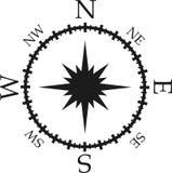 Compasso preto e branco ilustração do vetor
