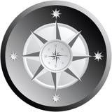 Compasso preto e branco ilustração stock