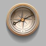 Compasso retro antigo do estilo com windrose Ilustração do vetor ilustração do vetor