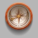 Compasso retro antigo do estilo com windrose Ilustração do vetor ilustração royalty free