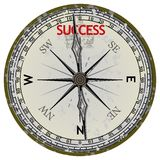 Compasso velho. Curso ao sucesso ilustração stock