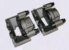 Compassos de calibre do freio com almofadas de freio Imagem de Stock