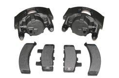 Compassos de calibre do freio e almofadas de freio Imagens de Stock