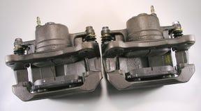 Compassos de calibre e almofadas do freio. Imagens de Stock Royalty Free