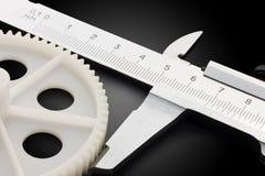 Compassos de calibre e engrenagem Imagem de Stock