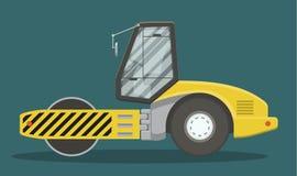 Compattatore piano dell'asfalto illustrazione vettoriale