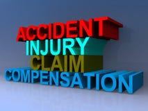 Compensação da reivindicação de ferimento do acidente fotografia de stock