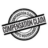 Compensation Claim rubber stamp Stock Image