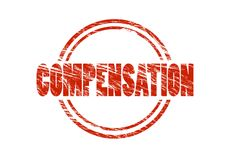 Compensation red rubber stamp Royalty Free Stock Photo