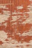 Compensato rosso dipinto vecchia annata del fondo fotografie stock libere da diritti