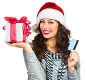 Compera di Natale immagini stock