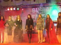 Compera di Natale di Bucarest Immagini Stock