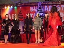 Compera di Natale di Bucarest Fotografia Stock Libera da Diritti