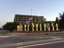 Comperando al centro commerciale dell'America Fotografia Stock Libera da Diritti