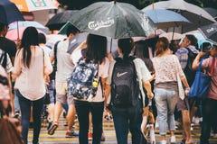 Comperando sulla baia della strada soprelevata in Hong Kong, la Cina Immagini Stock