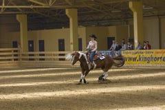 Comperition occidental d'équitation Images libres de droits