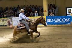 Comperition occidental del montar a caballo Imagenes de archivo