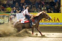 Comperition occidental del montar a caballo Imagen de archivo libre de regalías