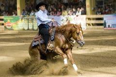 Comperition occidental del montar a caballo Imágenes de archivo libres de regalías