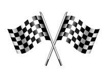 Competência Chequered do motor das bandeiras da bandeira esportes quadriculado ilustração stock