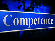 A competência competente indica a capacidade e a habilidade da habilidade Fotografia de Stock Royalty Free
