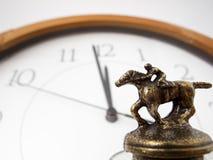 Competência contra o tempo Imagem de Stock Royalty Free