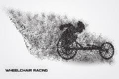 Competência da cadeira de rodas de uma silhueta da partícula Imagem de Stock