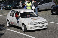 Competência da reunião de Peugeot 205 fotografia de stock