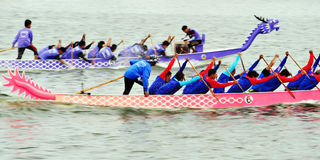 Competência de barco em Narathiwat, Tailândia Fotografia de Stock Royalty Free