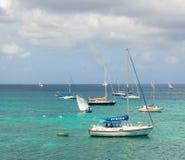 Competência de barcos em uma competição anual nas Caraíbas Imagens de Stock