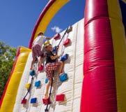 Competência de dois meninos Imagem de Stock Royalty Free
