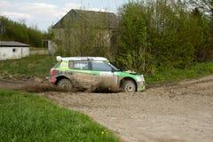 Competência de Kuzaj Skoda Fabia WRC Imagens de Stock